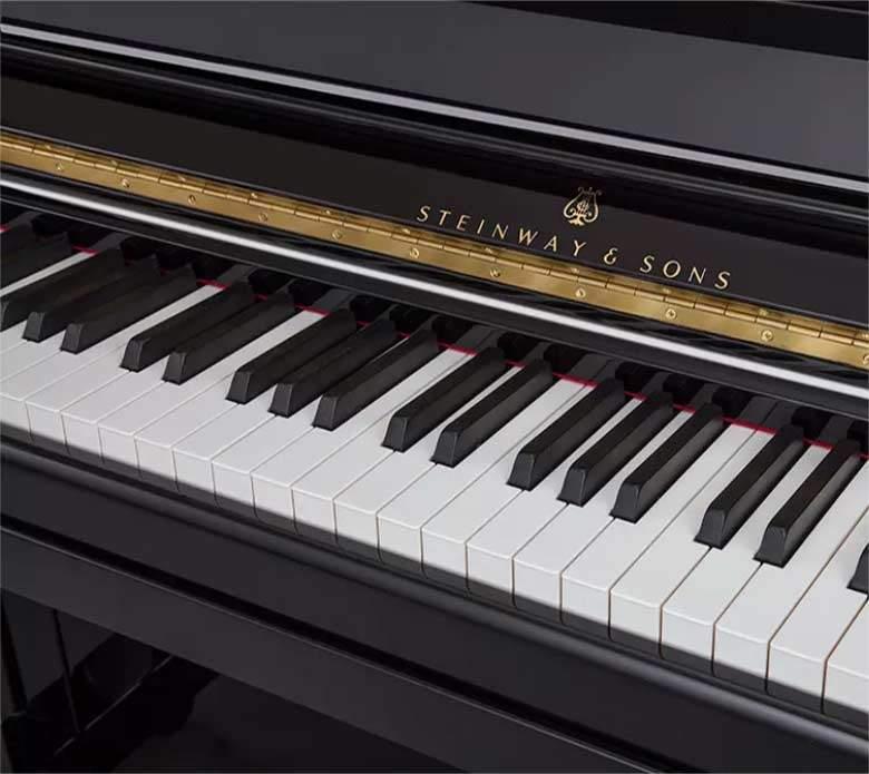 Steinway Vertical Piano Keyboard