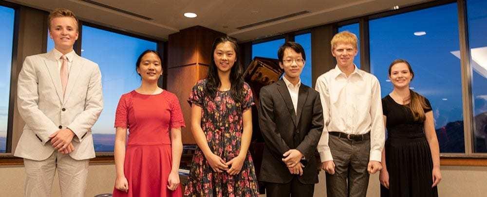 (left to right) Spencer Hopson (HM), Livia Zhang (HM), Ariel Wong (HM), John Zhao(3rd), Nathan Schaumann (1st), Elizabeth Van Dam (2nd)